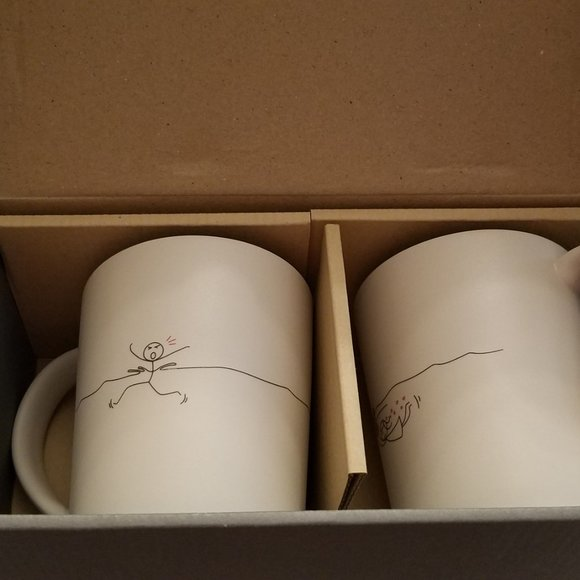 Two Mugs for Soulmates - Human Touch NIB